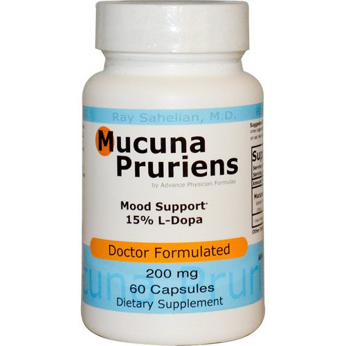 Advance Physician Formulas, Mucuna Pruriens, 200 mg, 60 Capsules Review