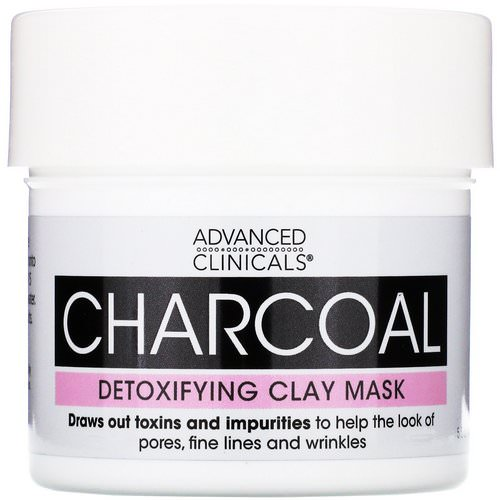 Advanced Clinicals, Charcoal, Detoxifying Clay Mask, 5.5 oz (156 g) Review