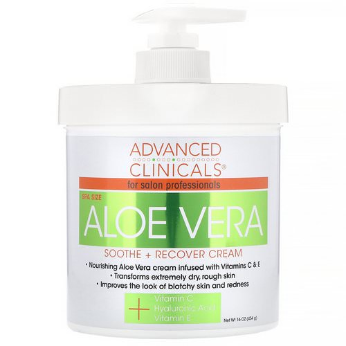 Advanced Clinicals, Soothe + Recover Cream, Aloe Vera, 16 oz (454 g) Review