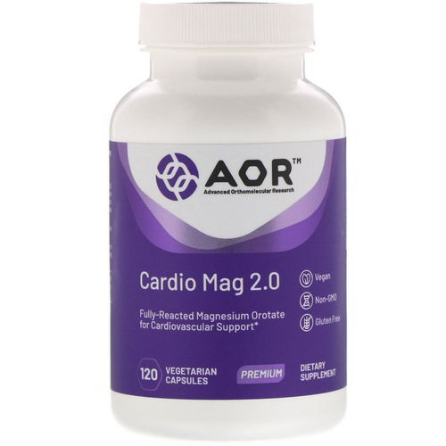 Advanced Orthomolecular Research AOR, Cardio Mag 2.0, 120 Vegetarian Capsules Review