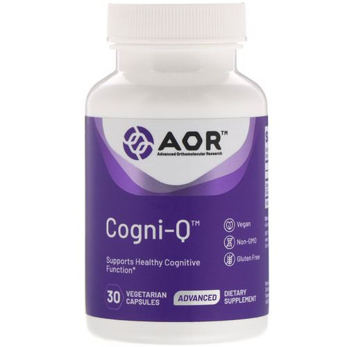 Advanced Orthomolecular Research AOR, Cogni-Q, 30 Vegetarian Capsules Review
