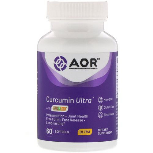 Advanced Orthomolecular Research AOR, Curcumin Ultra with CurQfen, 60 Softgels Review