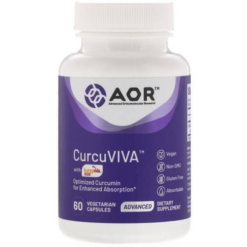 Advanced Orthomolecular Research AOR, Curcuviva, 60 Vegetarian Capsules Review