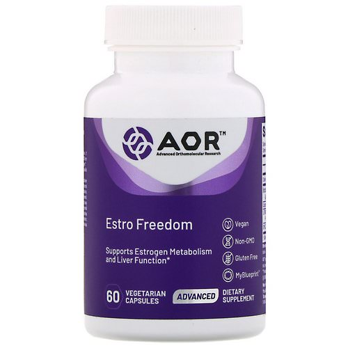 Advanced Orthomolecular Research AOR, Estro Freedom, 60 Vegetarian Capsules Review