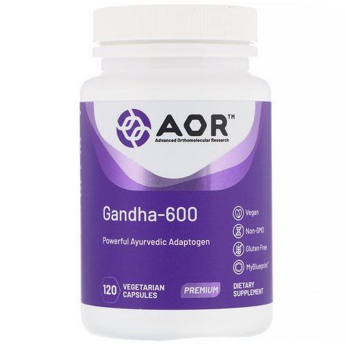 Advanced Orthomolecular Research AOR, Gandha-600, 120 Vegetarian Capsules Review