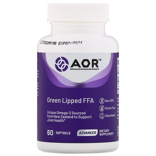 Advanced Orthomolecular Research AOR, Green Lipped FFA, 60 Softgels Review