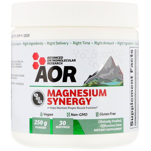 Advanced Orthomolecular Research AOR, Magnesium Synergy Powder, 250 g Review