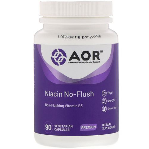Advanced Orthomolecular Research AOR, Niacin No-Flush, 90 Vegetarian Capsules Review