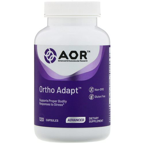 Advanced Orthomolecular Research AOR, Ortho Adapt, 120 Capsules Review
