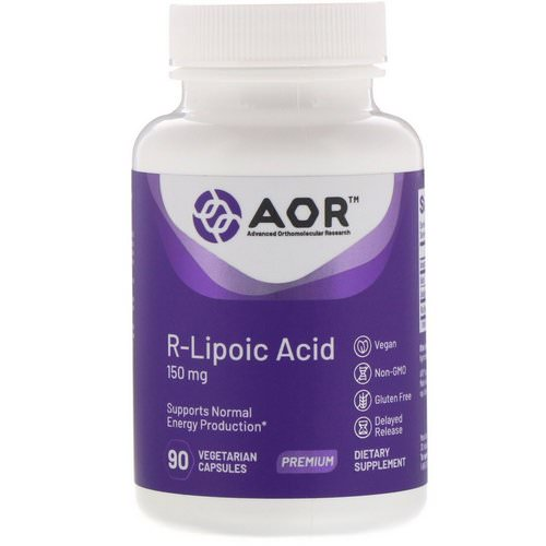 Advanced Orthomolecular Research AOR, R-Lipoic Acid, 150 mg, 90 Vegetarian Capsules Review