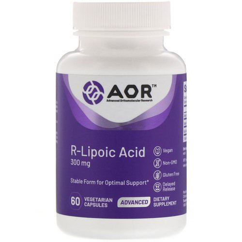 Advanced Orthomolecular Research AOR, R-Lipoic Acid, 300 mg, 60 Vegetarian Capsules Review