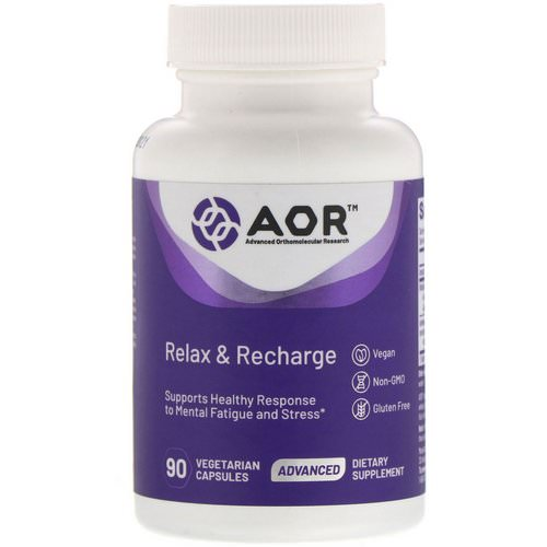 Advanced Orthomolecular Research AOR, Relax & Recharge, 90 Vegetarian Capsules Review