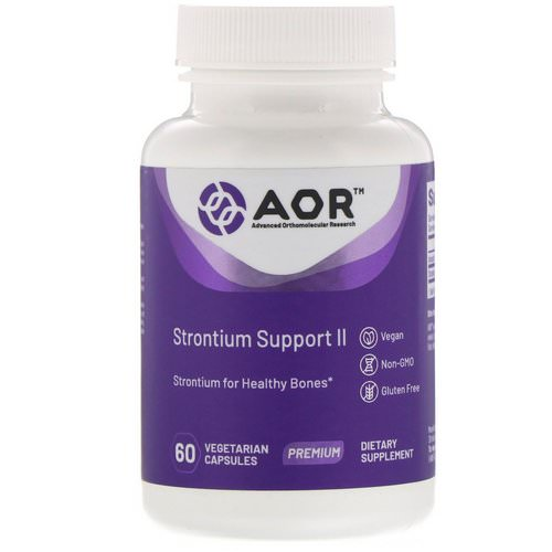 Advanced Orthomolecular Research AOR, Strontium Support II, 60 Vegetarian Capsules Review