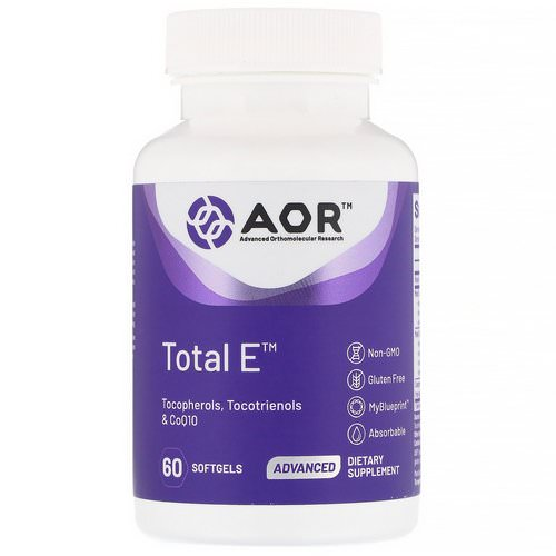 Advanced Orthomolecular Research AOR, Total E, 60 Softgels Review