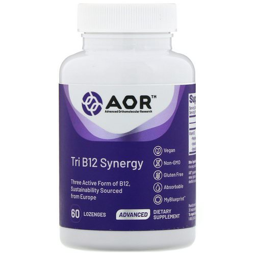 Advanced Orthomolecular Research AOR, Tri B12 Synergy, 60 Lozenges Review