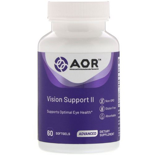Advanced Orthomolecular Research AOR, Vision Support II, 60 Softgels Review
