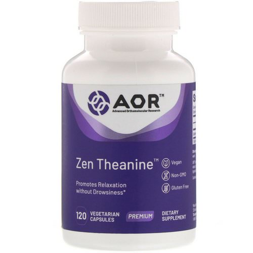 Advanced Orthomolecular Research AOR, Zen Theanine, 120 Vegetarian Capsules Review