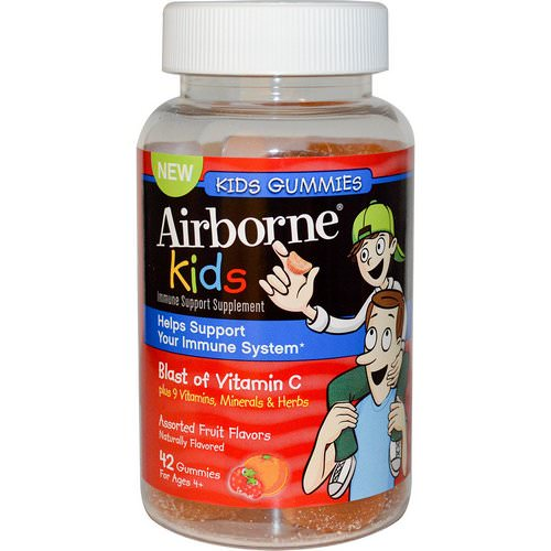 AirBorne, Kids, Blast of Vitamin C, Assorted Fruit Flavors, 42 Gummies Review