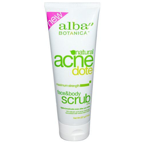 Alba Botanica, Acne Dote, Face & Body Scrub, Oil-Free, 8 oz (227 g) Review