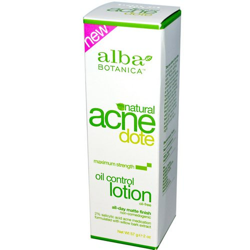 Alba Botanica, Acne Dote, Oil Control Lotion, Oil-Free, 2 oz (57 g) Review