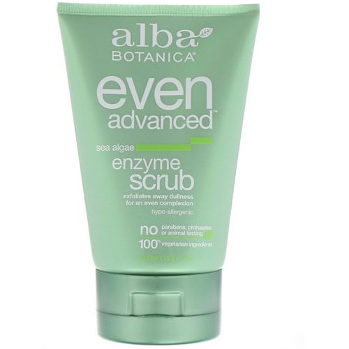 Alba Botanica, Even Advanced, Enzyme Scrub, Sea Algae, 4 oz (113 g) Review