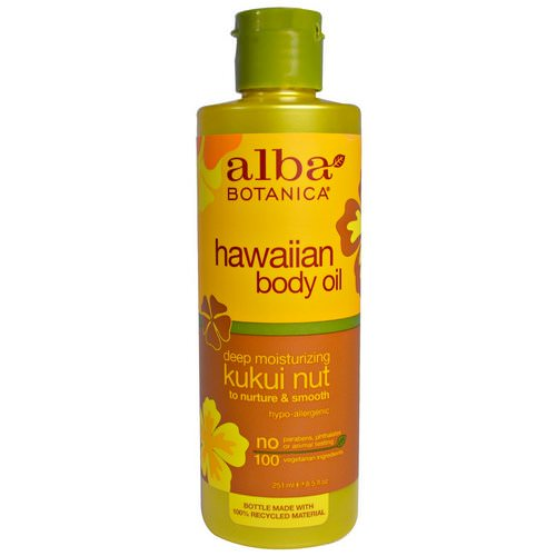 Alba Botanica, Hawaiian Body Oil, Kukui Nut, 8.5 fl oz (251 ml) Review