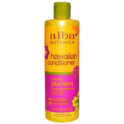 Alba Botanica, Hawaiian Conditioner, Colorific Plumeria, 12 oz (340 g) Review