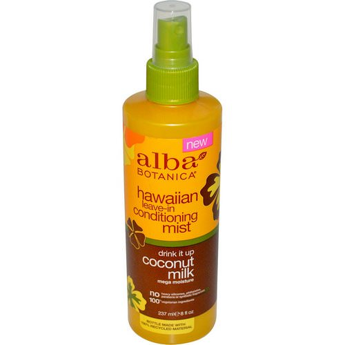 Alba Botanica, Hawaiian Leave-In Conditioning Mist, Drink It Up Coconut Milk, 8 fl oz (237 ml) Review