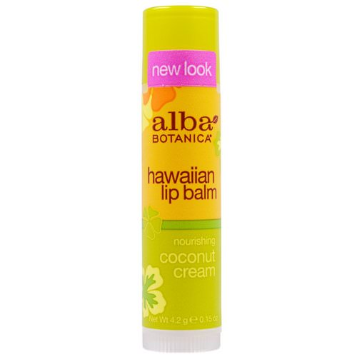 Alba Botanica, Hawaiian Lip Balm, Nourishing Coconut Cream, .15 oz (4.2 g) Review