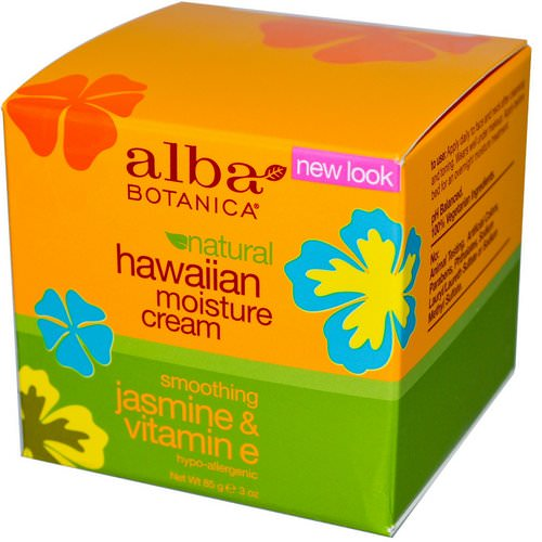 Alba Botanica, Hawaiian Moisture Cream, Jasmine & Vitamin E, 3 oz (85 g) Review