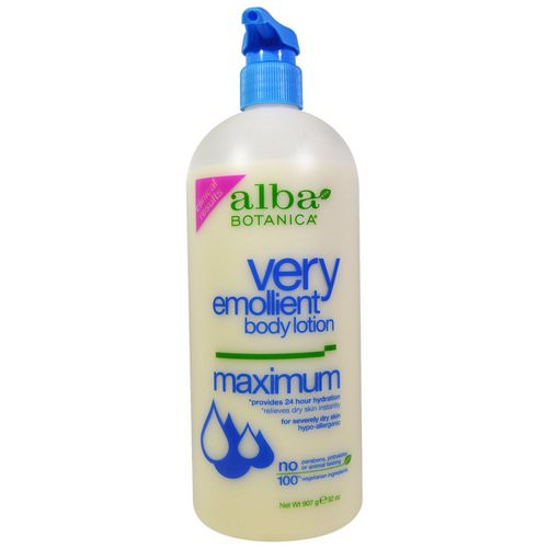 Alba Botanica, Very Emollient, Body Lotion, Maximum Dry Skin Formula, 32 oz (907 g) Review