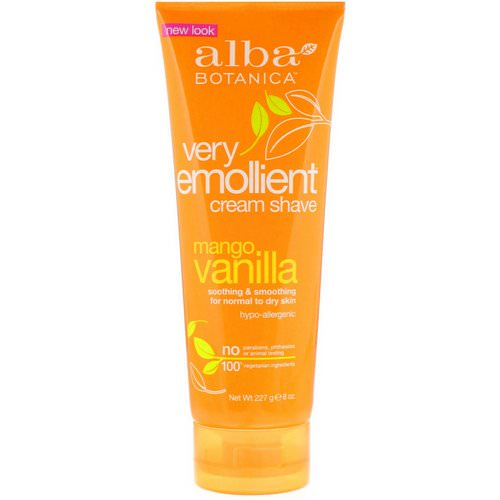 Alba Botanica, Very Emollient Cream Shave, Mango Vanilla, 8 oz (227 g) Review
