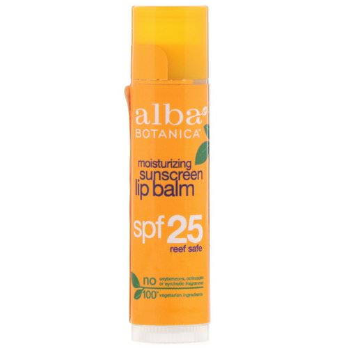 Alba Botanica, Moisturizing Sunscreen Lip Balm, SPF 25, .15 oz (4.2 g) Review