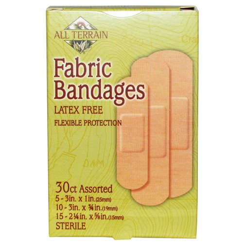 All Terrain, Fabric Bandages, Latex Free, Assorted, 30 Count Review