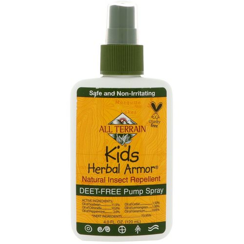 All Terrain, Kids Herbal Armor, Natural Insect Repellent, 4 fl oz (120 ml) Review