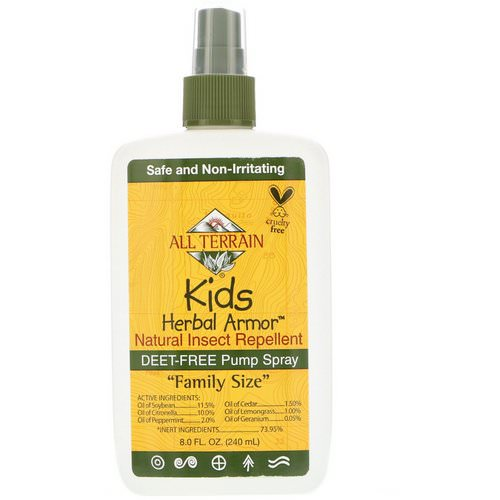 All Terrain, Kids Herbal Armor, Natural Insect Repellent, 8 fl oz (240 ml) Review