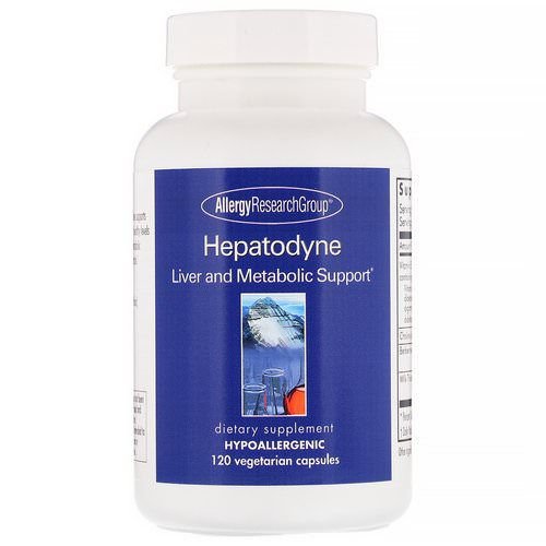 Allergy Research Group, Hepatodyne, Liver and Metabolic Support, 120 Vegetarian Capsules Review