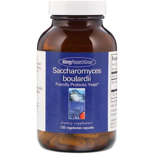 Allergy Research Group, Saccharomyces Boulardii, Friendly Probiotic Yeast, 120 Vegetarian Capsules Review