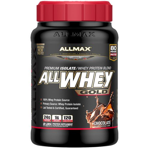 ALLMAX Nutrition, AllWhey Gold, 100% Whey Protein + Premium Whey Protein Isolate, Chocolate, 2 lbs (907 g) Review