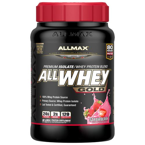 ALLMAX Nutrition, AllWhey Gold, 100% Whey Protein + Premium Whey Protein Isolate, Strawberry, 2 lbs (907 g) Review
