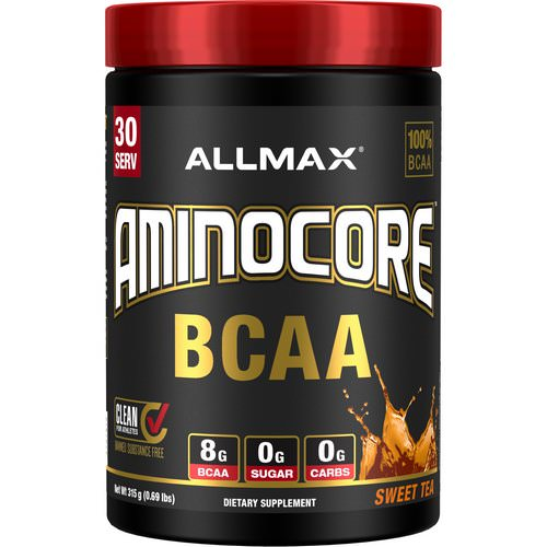 ALLMAX Nutrition, AMINOCORE, BCAA, 8G BCAA + 0 Sugar + 0 Carbs, Sweet Tea, 0.69 lbs (315 g) Review