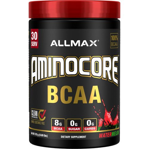 ALLMAX Nutrition, AMINOCORE, BCAA, 8G BCAA + 0 Sugar + 0 Carbs, Watermelon, 0.69 lbs (315 g) Review