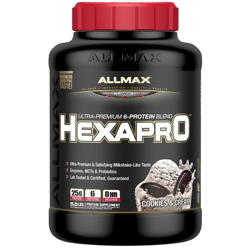 ALLMAX Nutrition, Hexapro, Ultra-Premium Protein + MCT & Coconut Oil, Cookies & Cream, 5.5 lbs (2.5 kg) Review