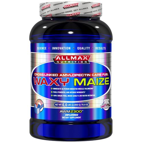 ALLMAX Nutrition, Waxy Maize, Cross-Linked Amylopectin Carb Fuel, Unflavored, 4.4 lbs (2,000 g) Review