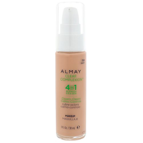 Almay, Clear Complexion Makeup, 700 Warm, 1 fl oz (30 ml) Review