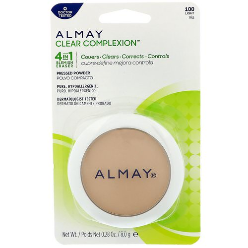 Almay, Clear Complexion Pressed Powder, 100, Light, 0.28 oz (8 g) Review