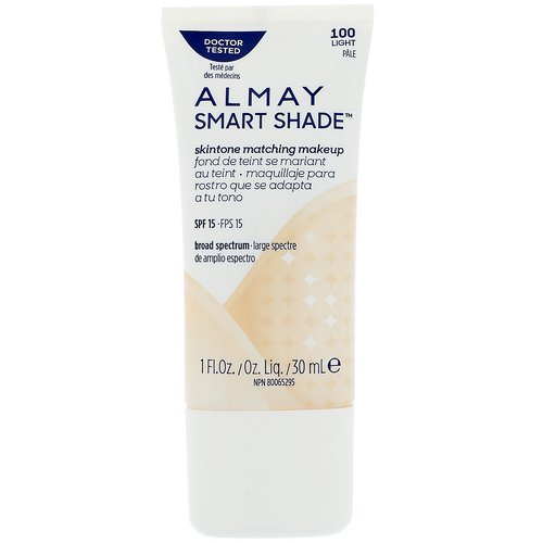 Almay, Smart Shade, Skintone Matching Makeup, SPF 15, 100 Light, 1 fl oz (30 ml) Review