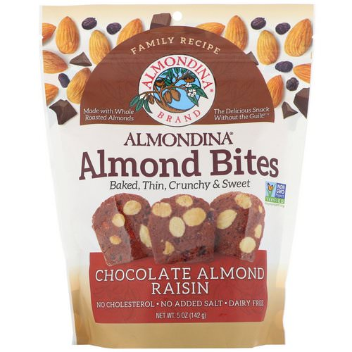 Almondina, Almond Bites, Chocolate Almond Raisin, 5 oz (142 g) Review