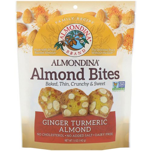 Almondina, Almond Bites, Ginger Turmeric Almond, 5 oz (142 g) Review