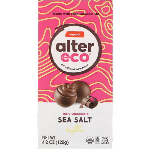 Alter Eco, Organic Sea Salt Truffles, Dark Chocolate, 4.2 oz (120 g) Review